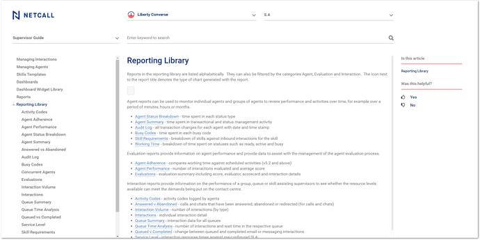 Report Library