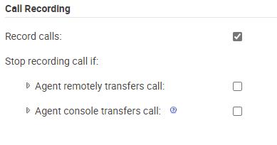 call rec settings